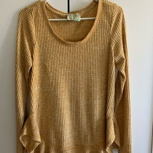 Anthropologie Waffle Weave Top